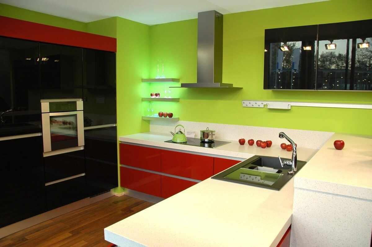 Акцент цвета на кухне