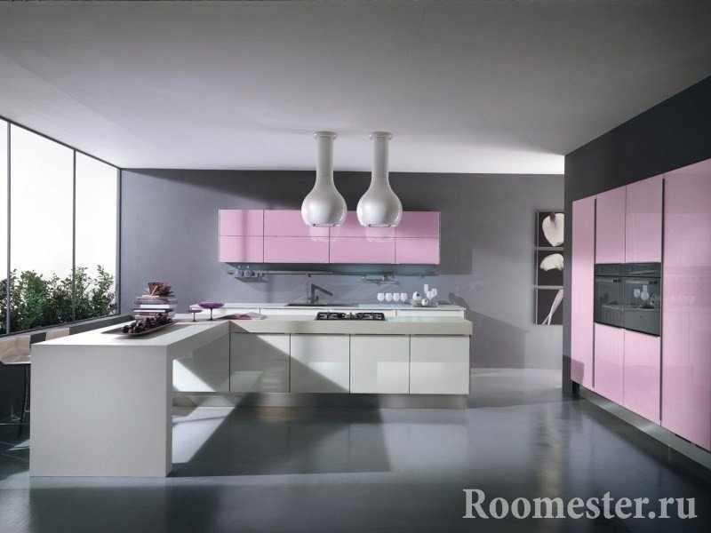 Серый цвет с розовым