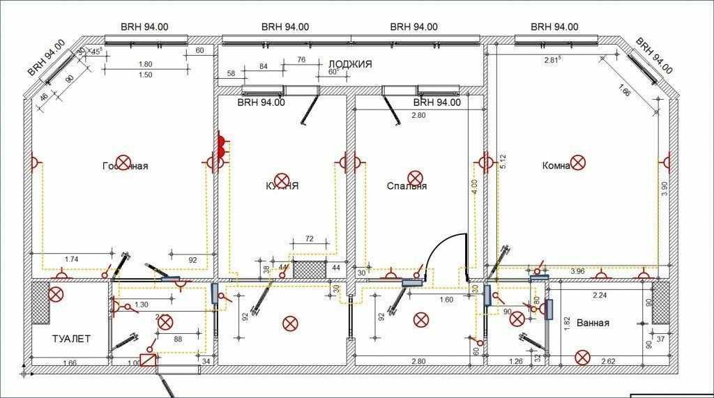 План установки электрических устройств в доме