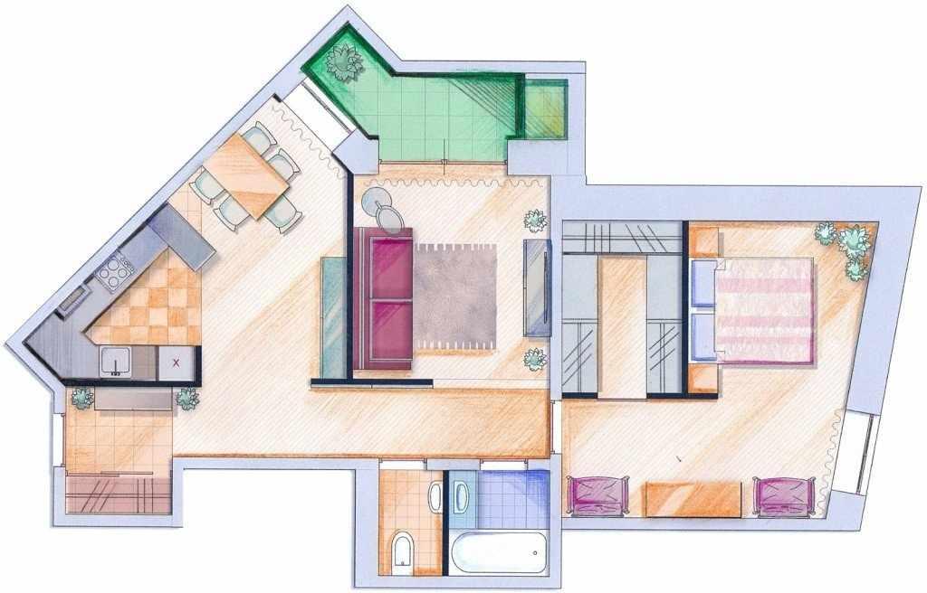 Планировка комнаты