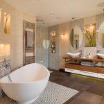 Дизайн ванной с зеркалами