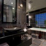 Дизайн ванной в шоколадном цвете