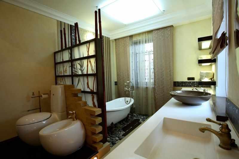 Зонирование в ванной комнате