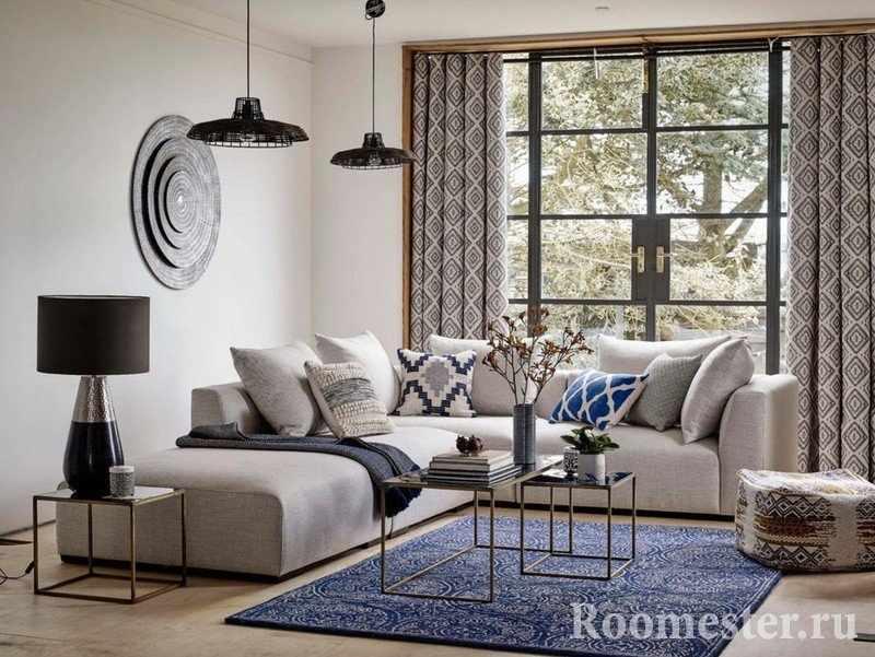 Сочетание мебели и текстиля