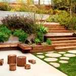 Двухуровневый садовый участок