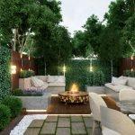 Зона патио с садовой мебелью