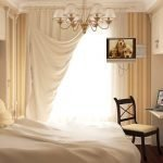 Бежевый декор спальни