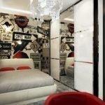 Молодежный декор маленькой спальни