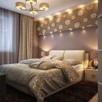 Красивый декор в спальне 6 кв. м.
