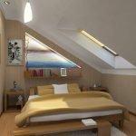 Супружеская спальня на мансарде