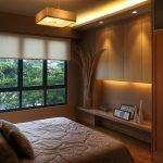 Спальня в темных тонах 6 кв. м.