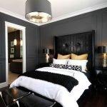 Спальня серый с черным