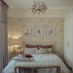 Люстра над кроватью