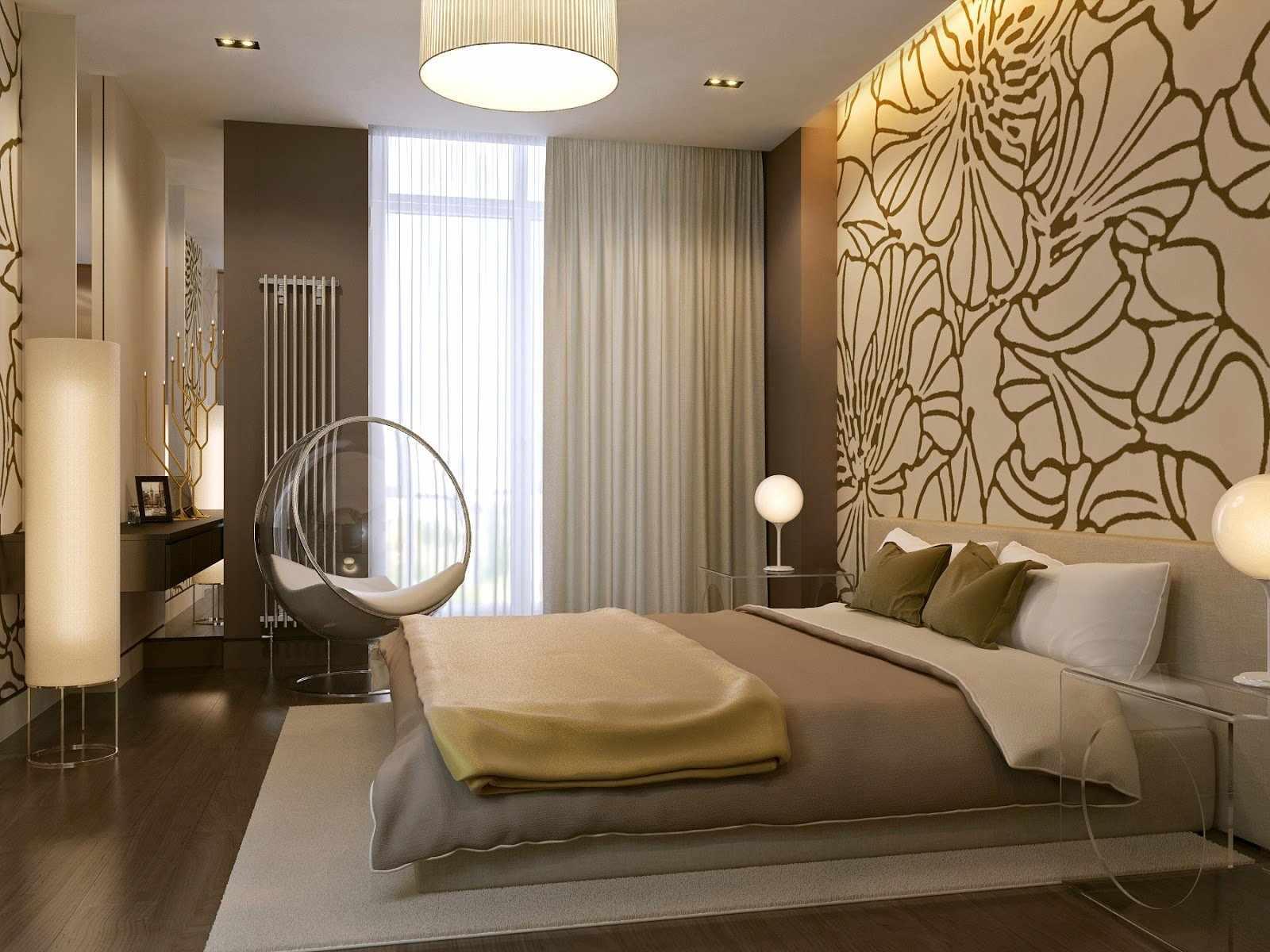 СВетло-коричневая спальня