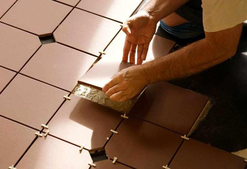 Традиционная укладка плитки