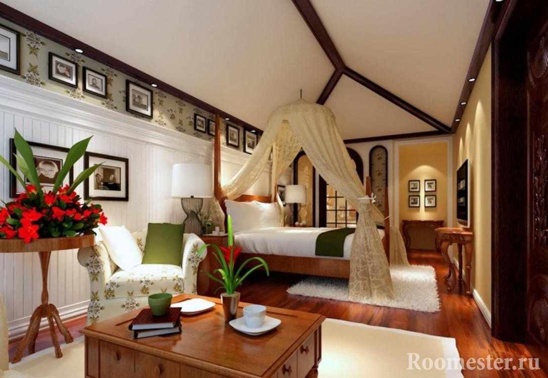 Картины на стенах в спальне