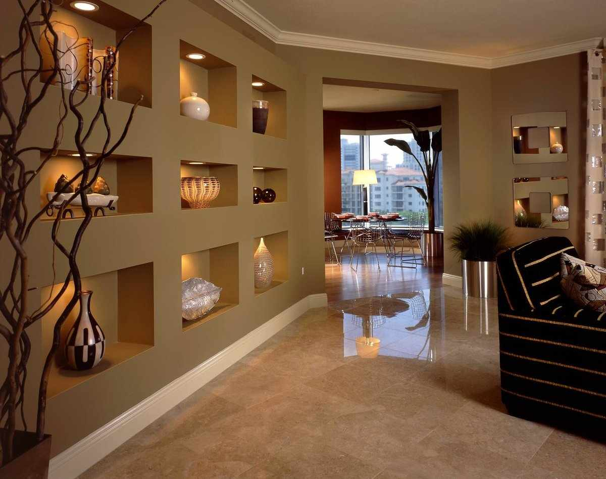 Дизайн стен из гипсокартона