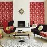Комната в черно-красных тонах