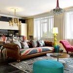 Элементы винтажного стиля в интерьере гостиной