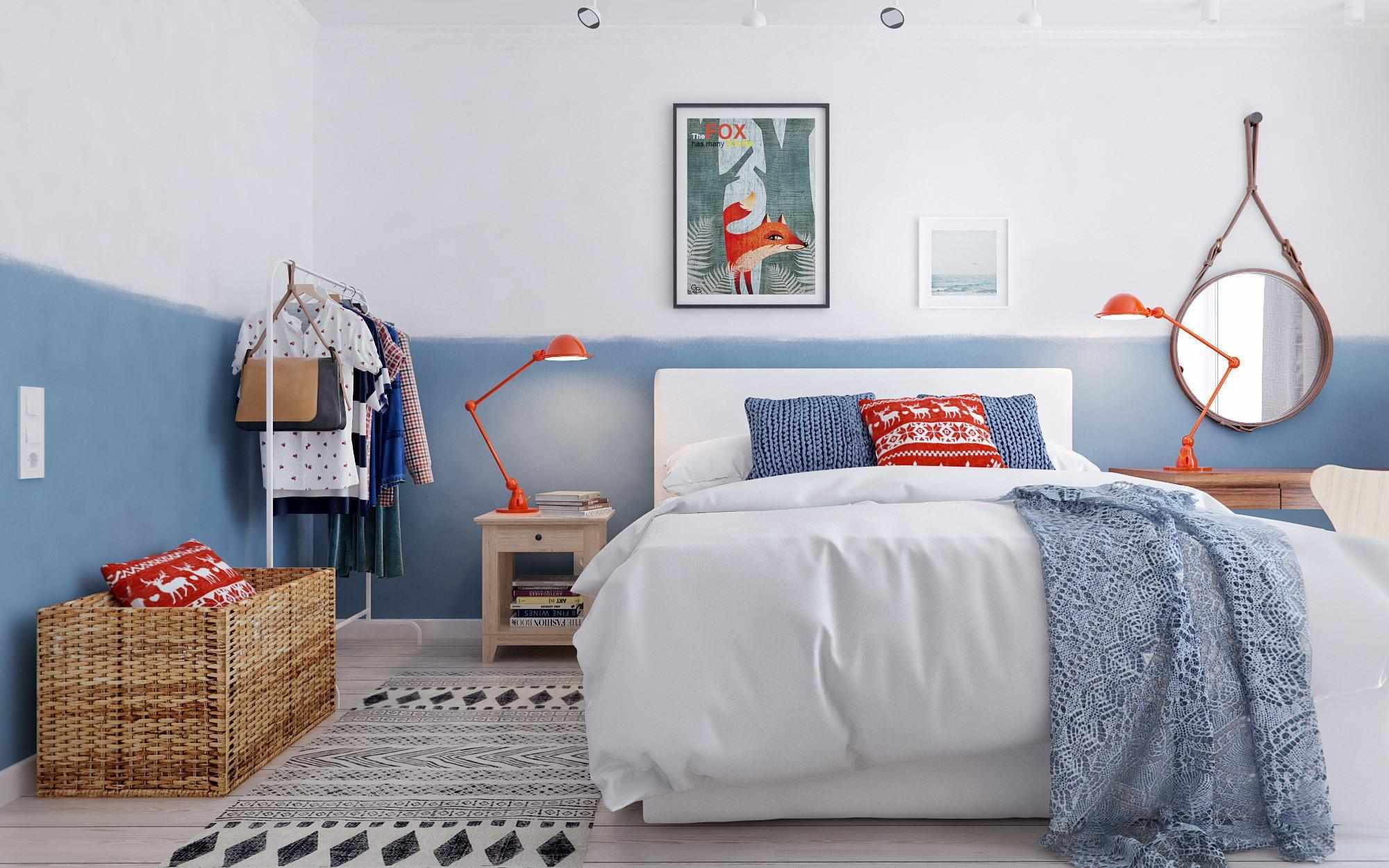 Современная спальня в стиле 60-х