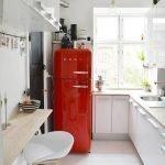 Красный холодильник