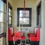 Красная мебель для кухни