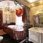 Мрамор и дорогая мебель в ванной
