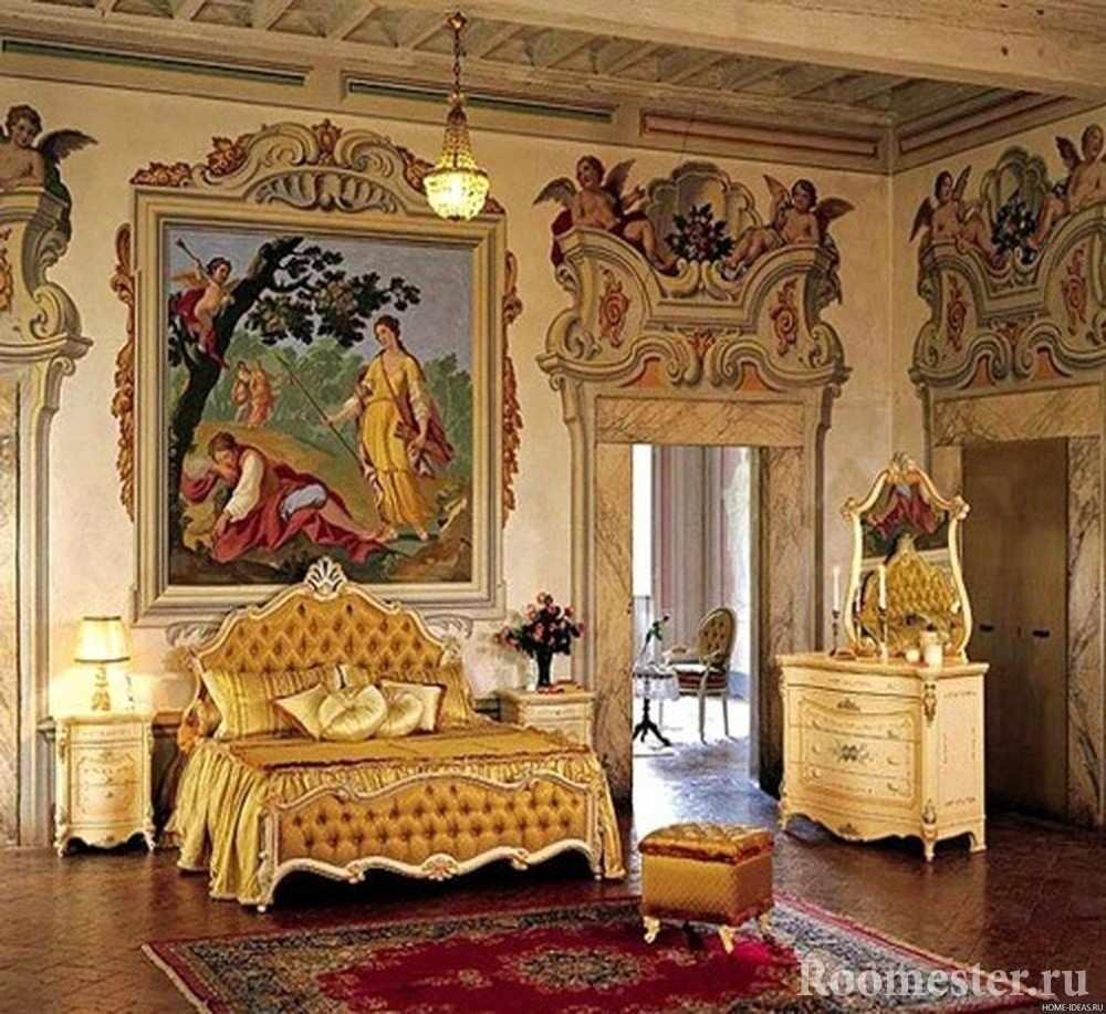 Узоры на стенах в спальне