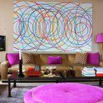 Интерьер с фиолетовым декором