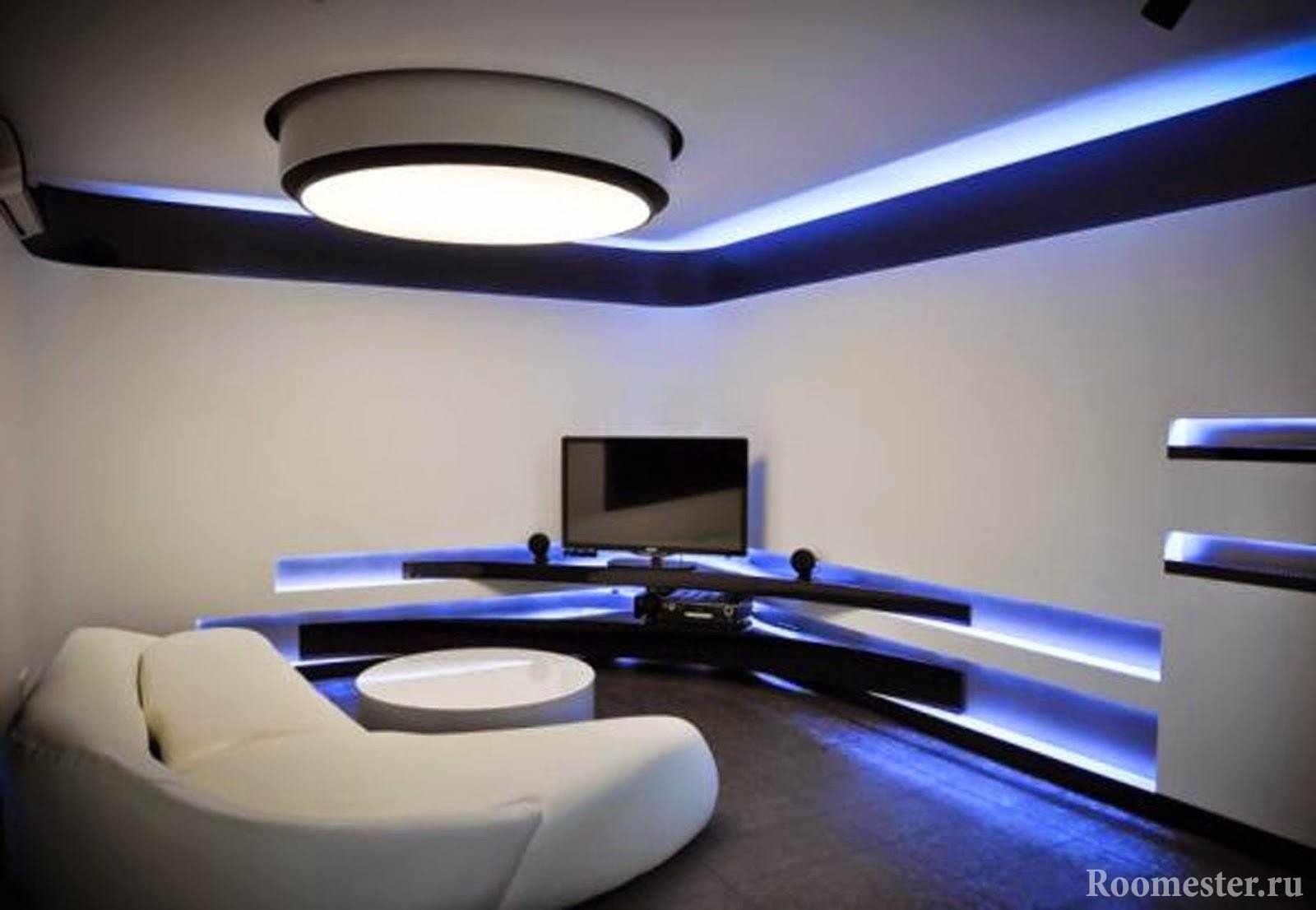 Подсветка в гостиной