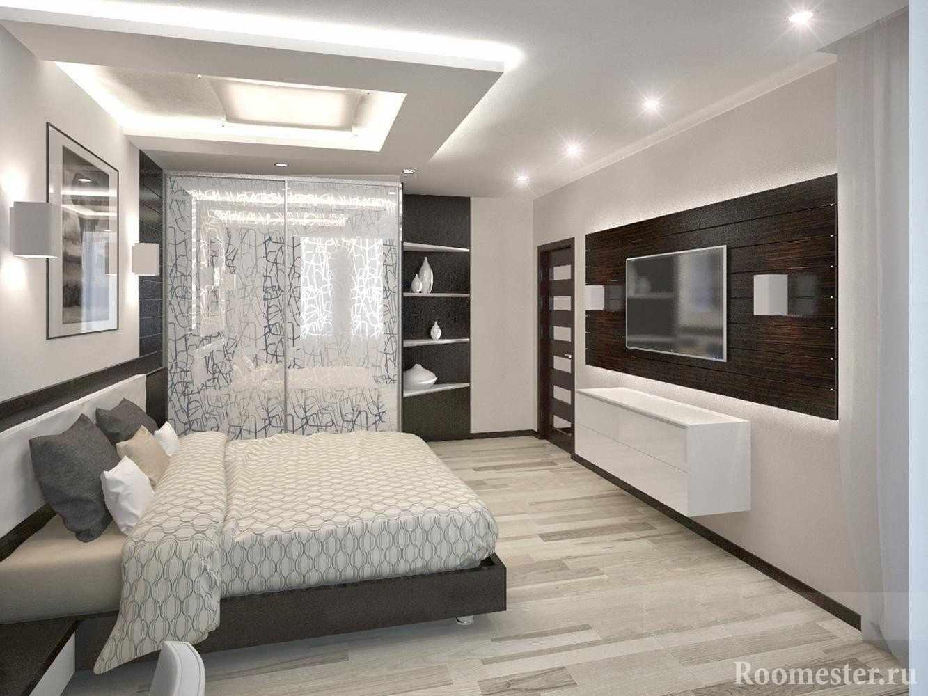 Спальня с подсветкой