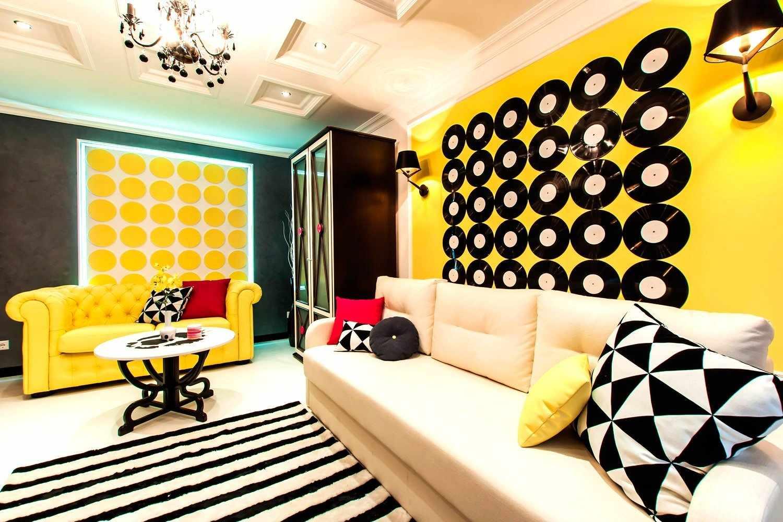 Желто-черный дизайн