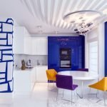 Цветовое сочетание на кухне в стиле китч