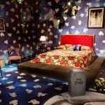 Синий в дизайне спальни