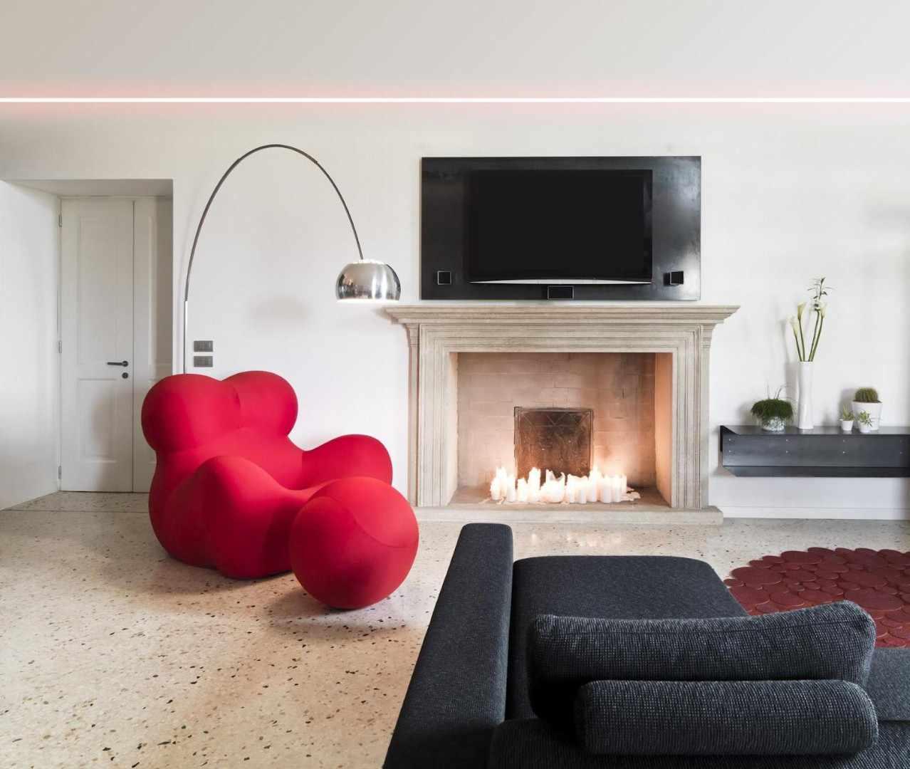 Мягкая мебель в интерьере в стиле контемпорари