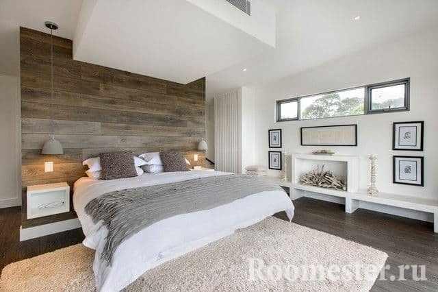 Аксессуары в спальне в стиле контемпорари