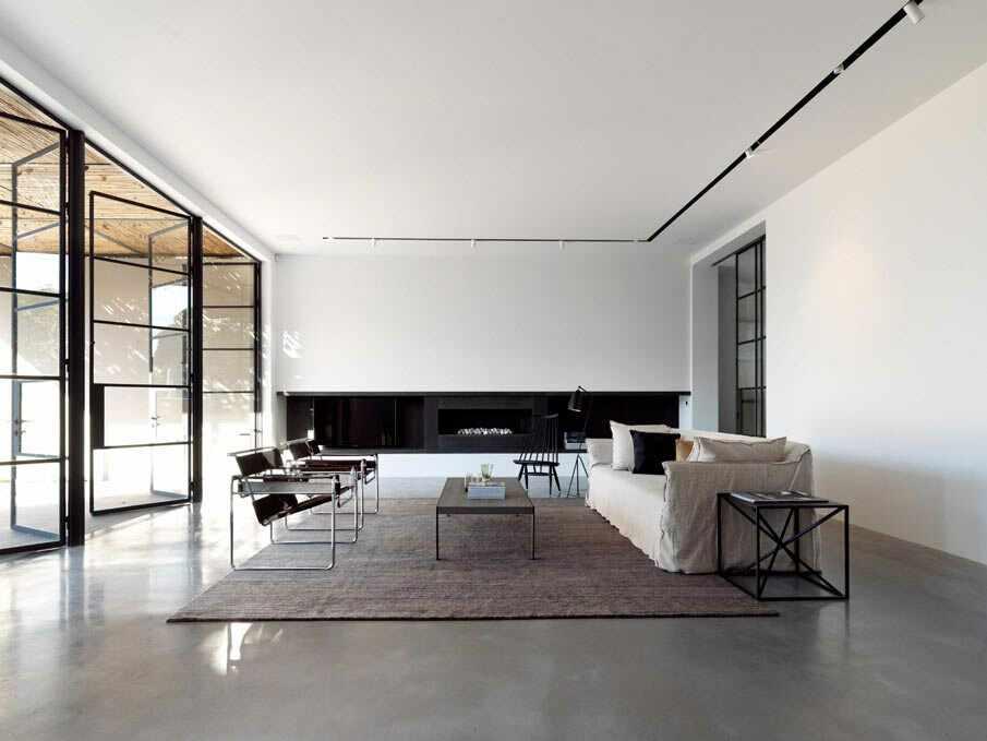 Большая комната в стиле минимализм