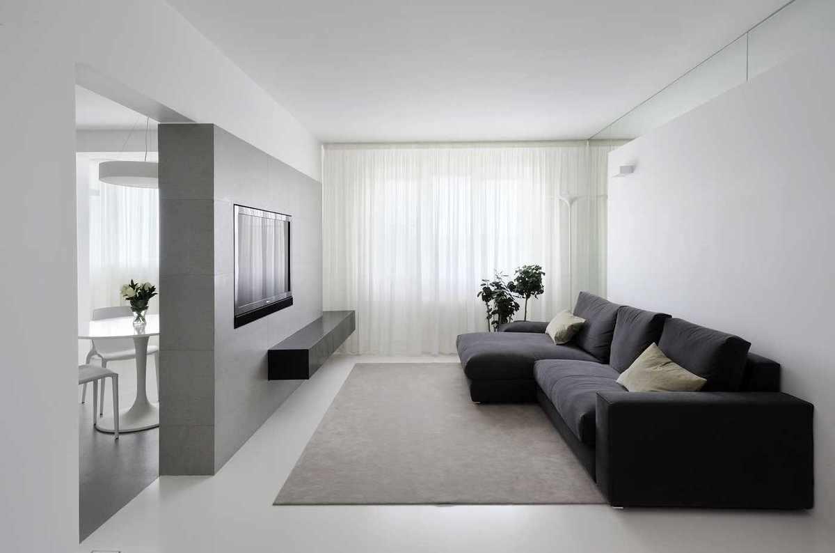 Светлые тона в интерьере в стиле минимализм