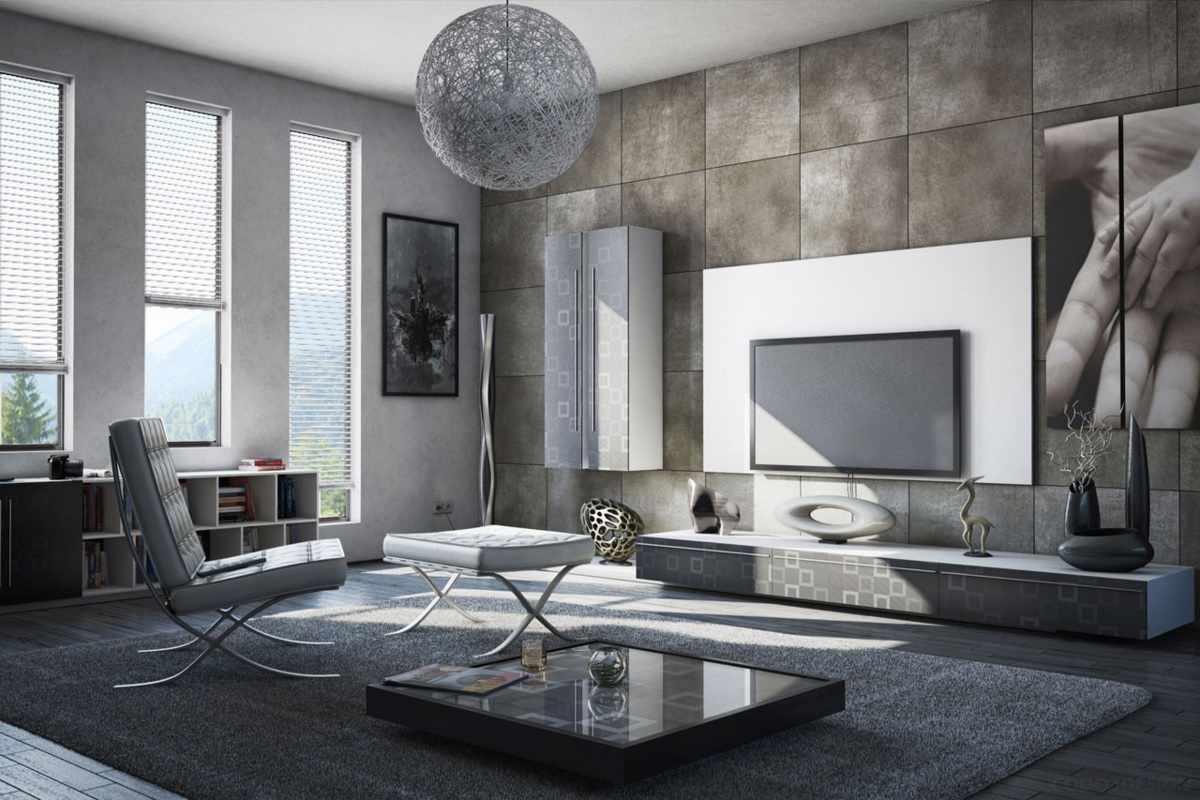Стеновые панели в отделке интерьера в стиле минимализм