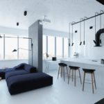 Перегородка между гостиной и кухней