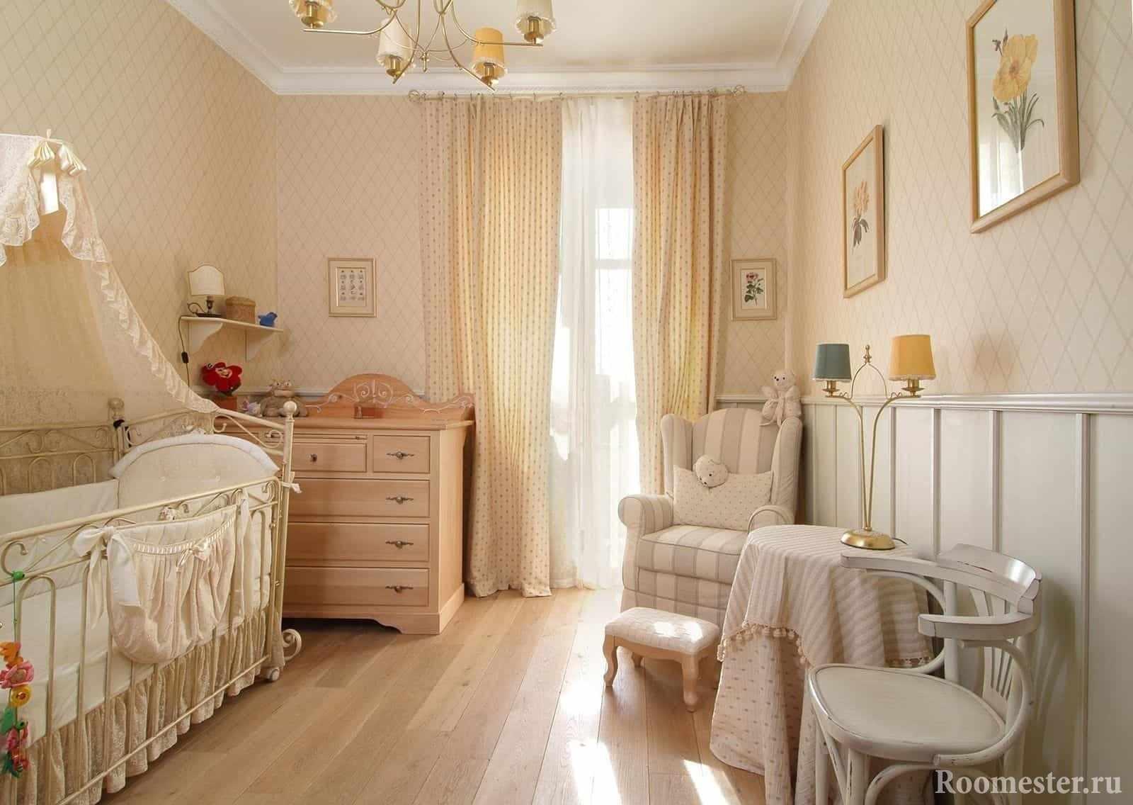 Детская комната для девочки 2-3 лет