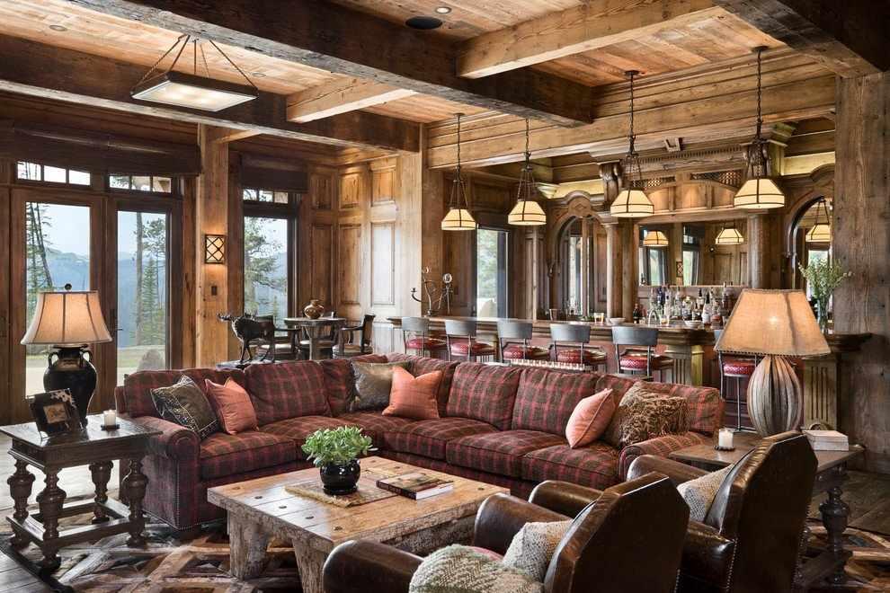 Мебель в интерьере в стиле рустик
