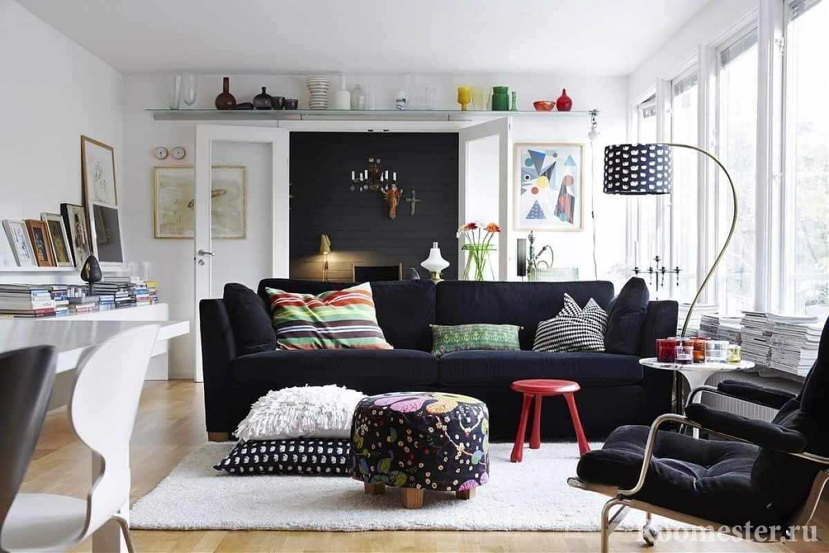 Обстановка гостиной в стиле современная классика