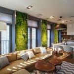 Декоративный мох на стенах