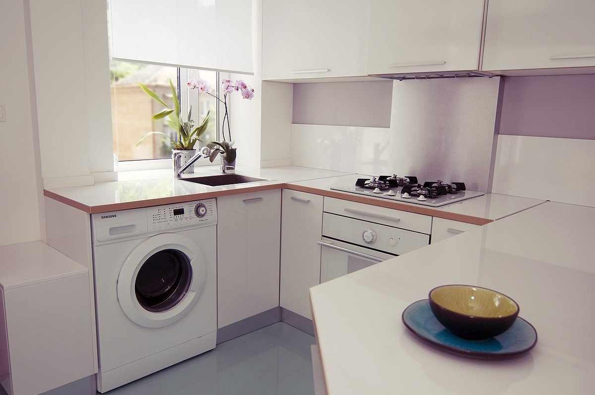 Дизайн кухни со стиральной машинкой