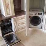 Расположение стиральной машинки