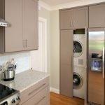 Машинка стиральная в интерьере кухни