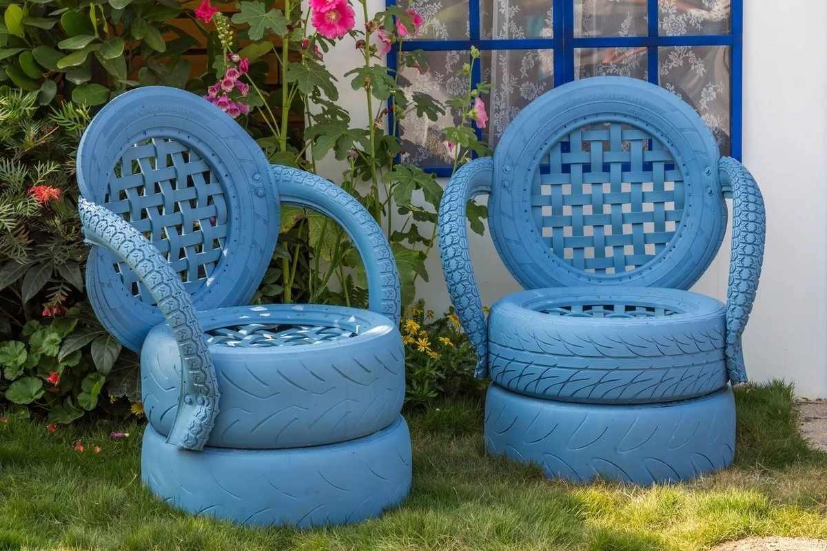 Оригинальные стулья из покрышек