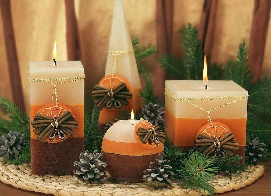 Новогодние свечм