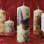 Свечи с бабочкой